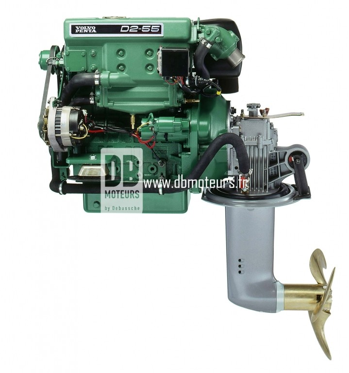 moteur volvo penta d2-55 avec saildrive