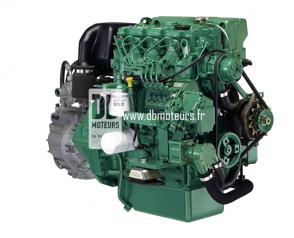 moteur volvo penta d2-55 avec transmission inverseur