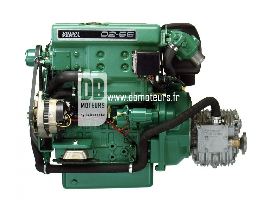 moteur volvo penta d2-55 avec transmission inverseur2