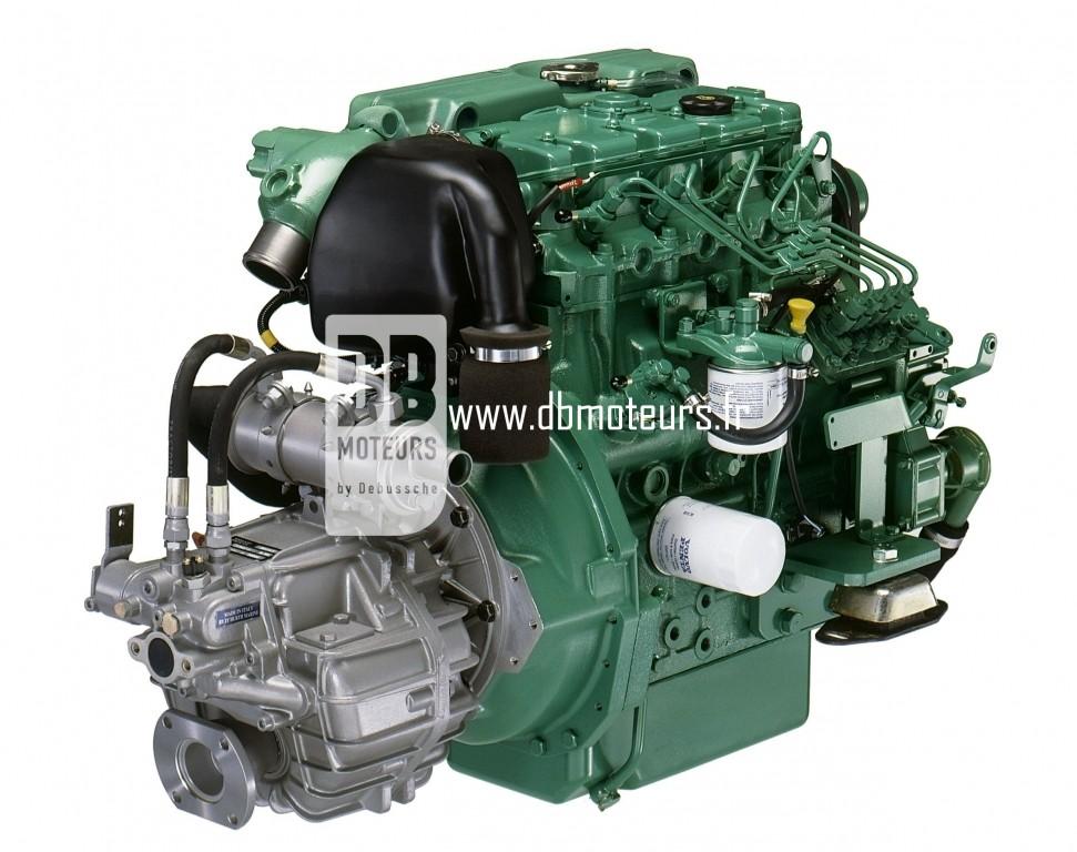 moteur volvo penta d2-55 avec transmission inverseur5