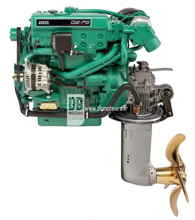 moteur marin volvo penta d2-75 avec saildrive
