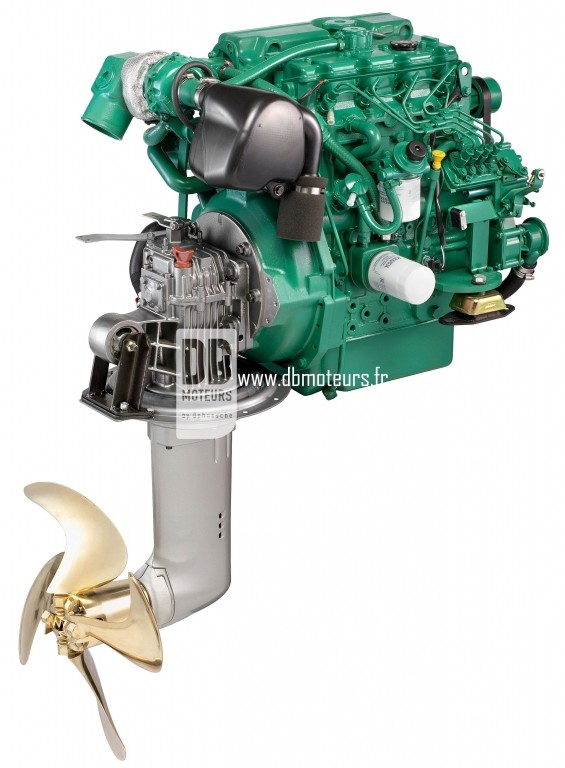 moteur marin volvo penta d2-75 avec saildrive6