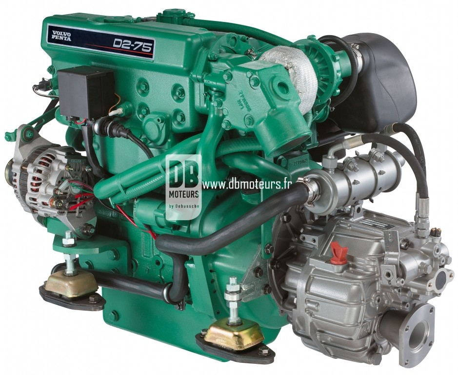 moteur marin volvo penta d2-75 avec inverseur8