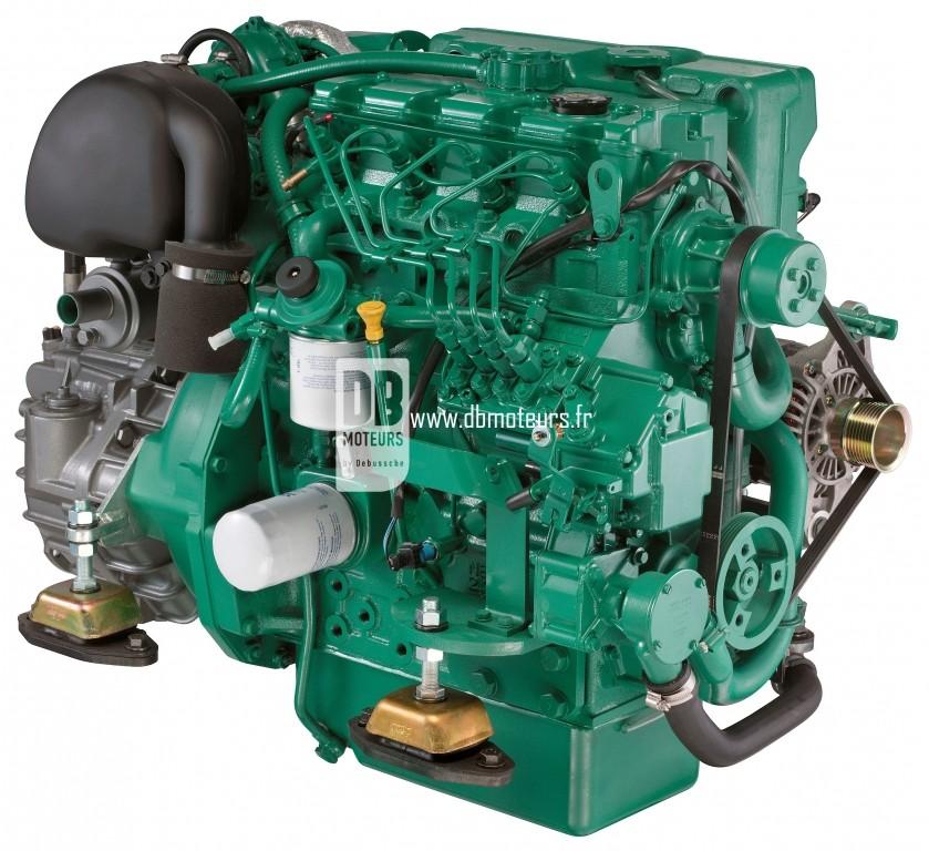 moteur marin volvo penta d2-75 avec inverseur