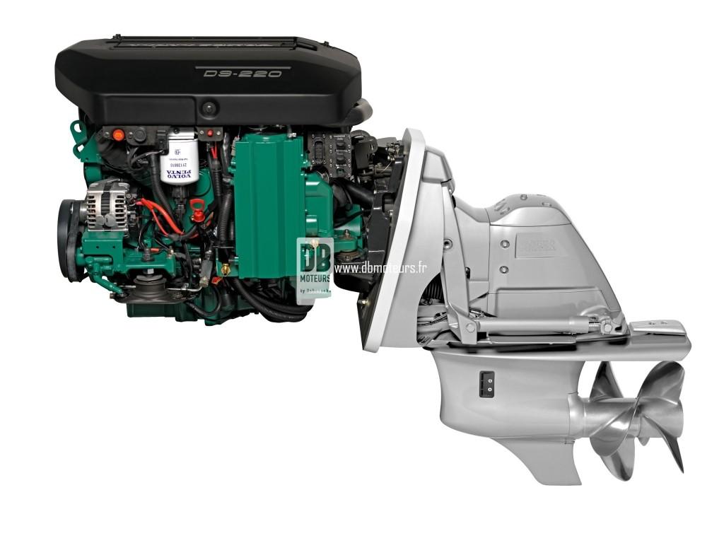 moteur marin volvo penta d3-220 avec embase
