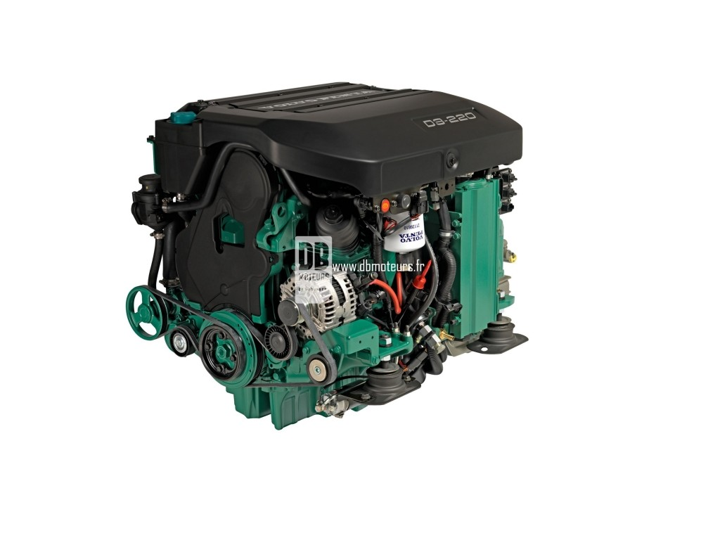 moteur marin volvo penta d3-220 avec inverseur