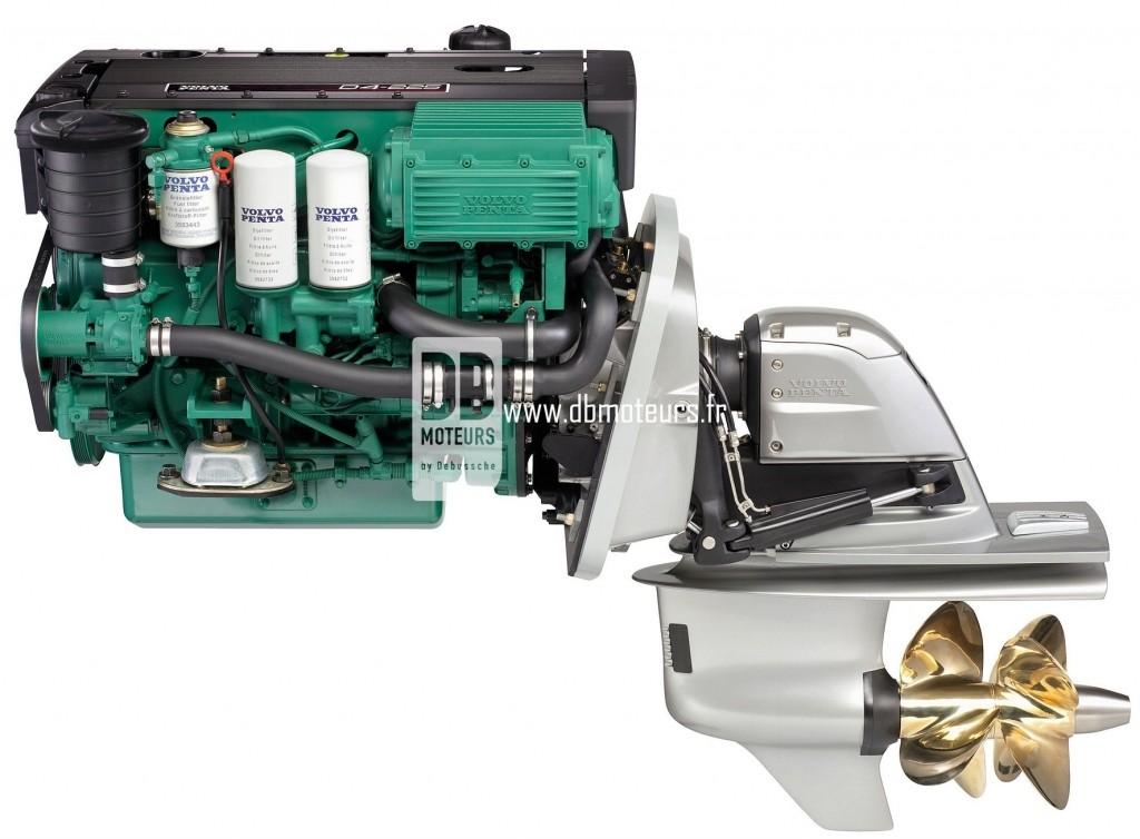 moteur volvo penta d4-225 avec embase2