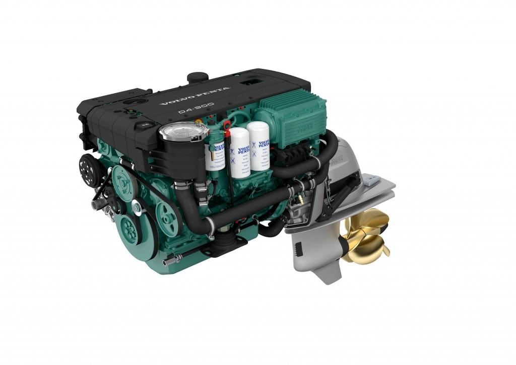 moteur marin volvo penta d4-300 avec embase 3