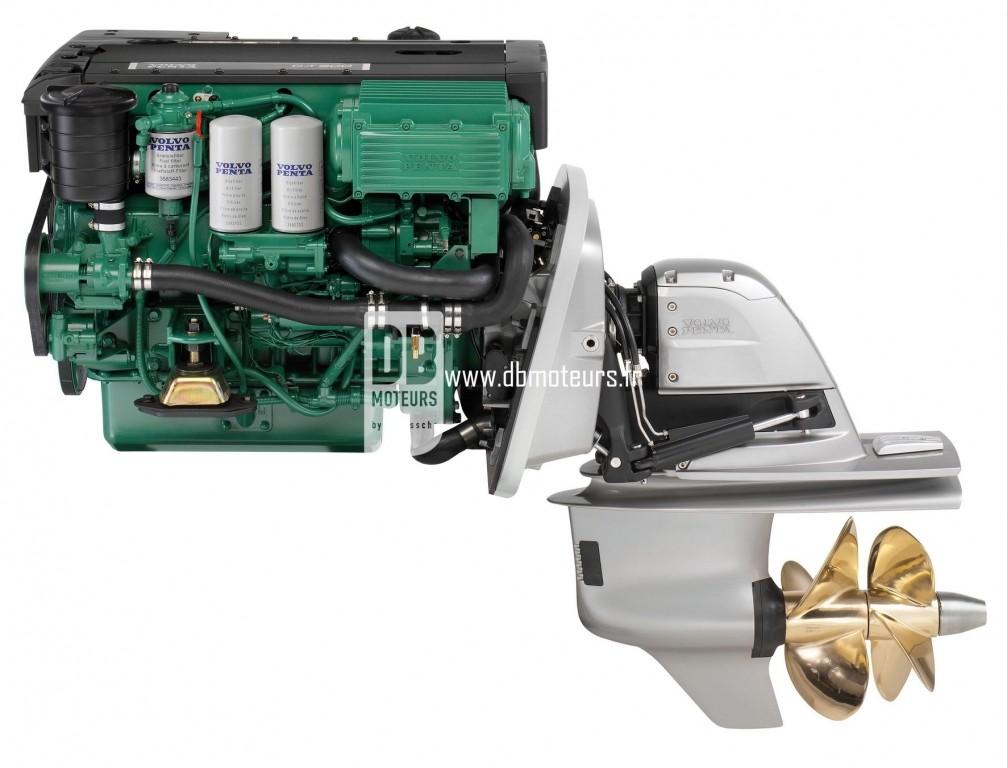 moteur marin volvo penta d4-300 avec embase