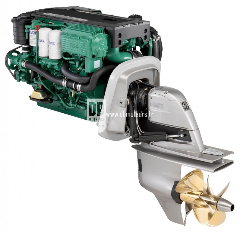 moteur marin volvo penta d4-300 avec embase duroprop