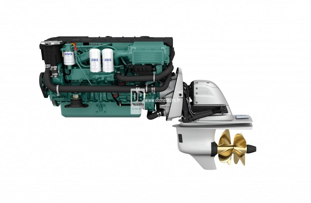 moteur marin volvo penta d6-330 avec embase8