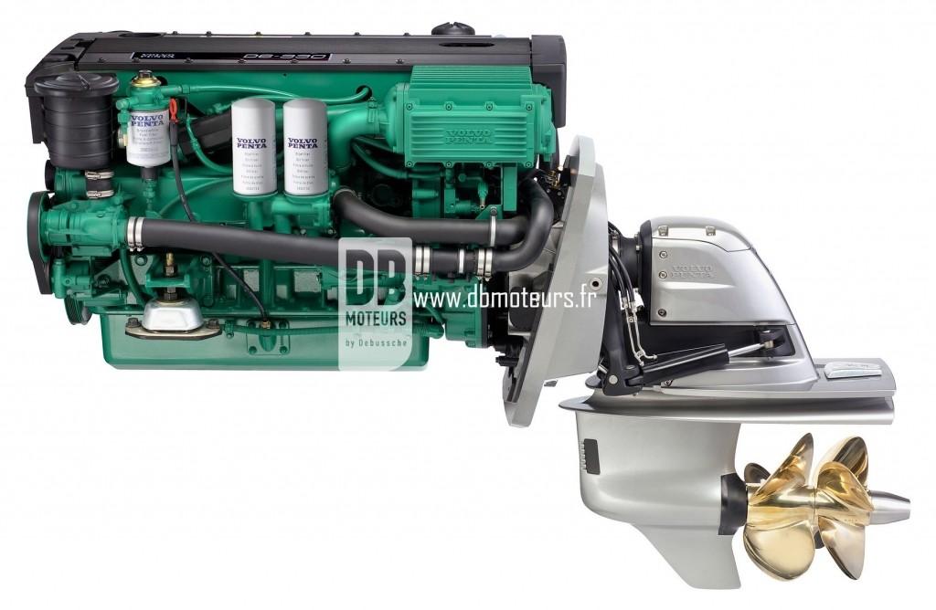 moteur marin volvo penta d6-330 avec embase