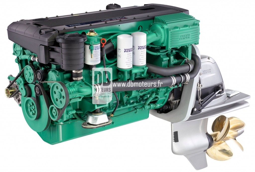 moteur marin volvo penta d6-330 avec embase2