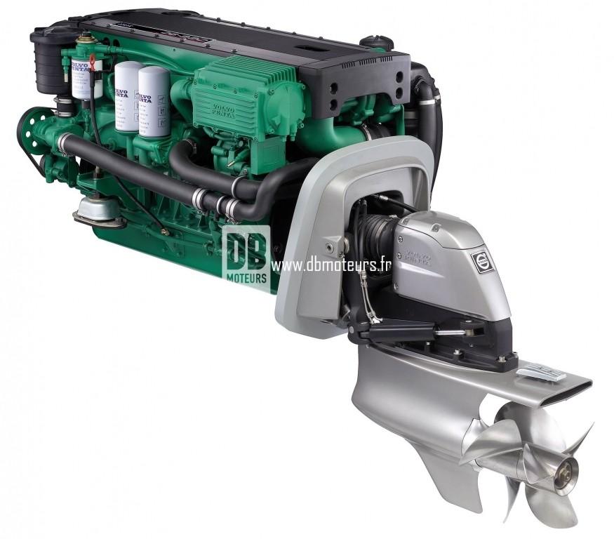 moteur marin volvo penta d6-330 avec embase4